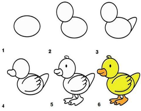 نقاشی مرحله به مرحله برای کودکان